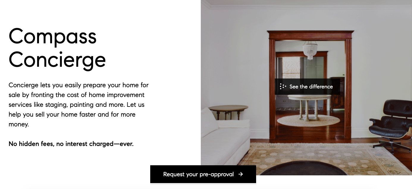 Compass Concierge helps you afford to stage your home to sell in Washington D.C.