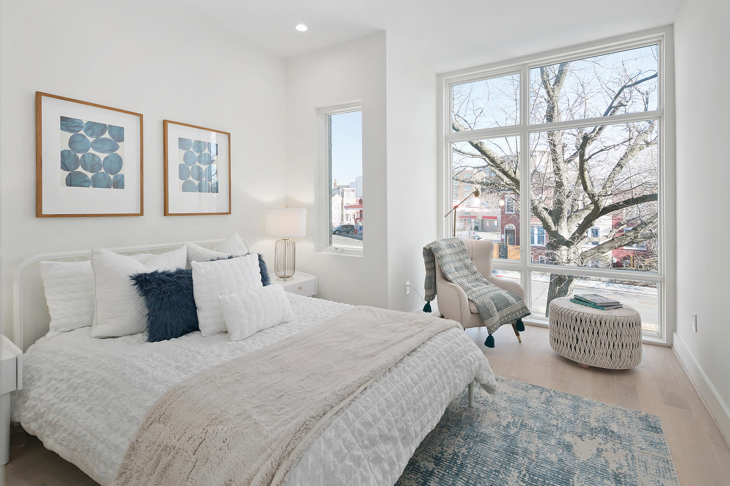 Master bedroom home staging in Washington D.C.